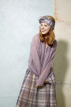 Modèle à tricoter gratuit, gilet en Mohair Luxe Lang Yarns