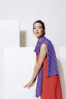 Modèle à tricoter, écharpe coton Divina,