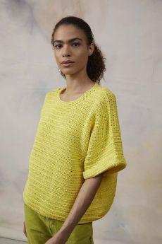 Kit tricot, coton Golf Lang Yarns, pull à crocheter