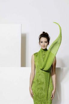 Modèle châle, coton Ayumi de Lang Yarns