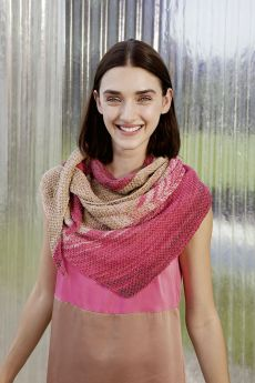 Kit tricot Lang Yarns, Châle coton Bloom