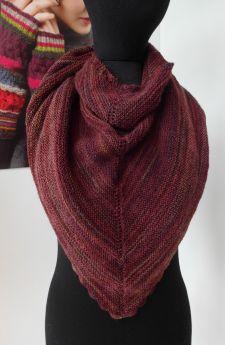 Châle tricoté main, laine Fine Art de Rowan