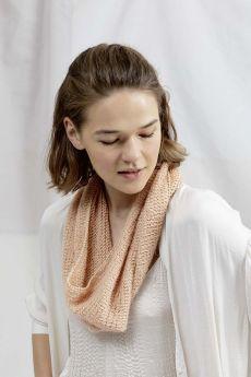 Modèle snood à tricoter, coton Janet et laine Lace Lang Yarns