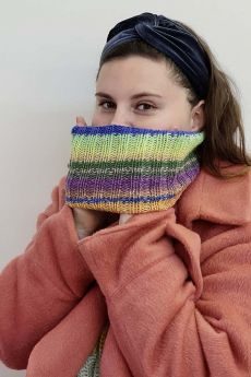 kit tricot col, laine Lang Yarns Mérino 120 dégradé, coloris 37.0001