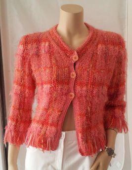 Veste tricotée main Kouda d'Anny Blatt