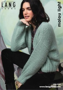 Kit tricot , gilet, laine Lang Yarns Malou Light