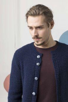 Modèle à tricoter, gilet pour homme, laine Lang Yarns Stockholm
