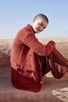 Modèle à tricoter, gilet, laine Lang Yarns Wooladdicts Earth