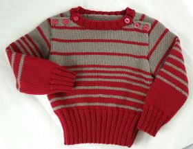 Pull marin enfant, laine mérinos d'Anny Blatt