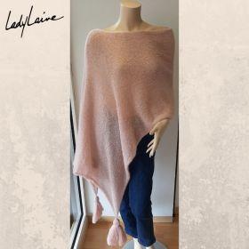 Poncho à pompons, modèle Lang Yarns