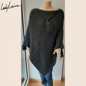 Poncho tricoté main, laine lang yarns Air