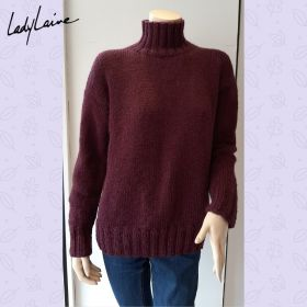 Pull tricoté main, laine Earth de Lang Yarns