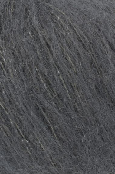 Laine Lang Yarns Mohair Luxe Lamé-Couleur- 0070 gris anthracite
