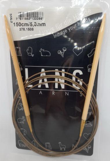 Aiguilles circulaires bambou Lang Yarns 150 cm-5 mm