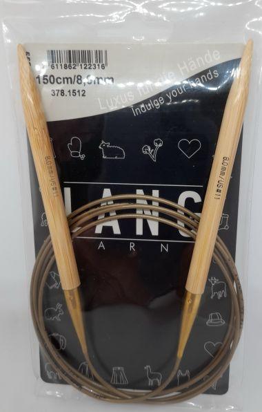 Aiguilles circulaires bambou Lang Yarns 150 cm-8 mm