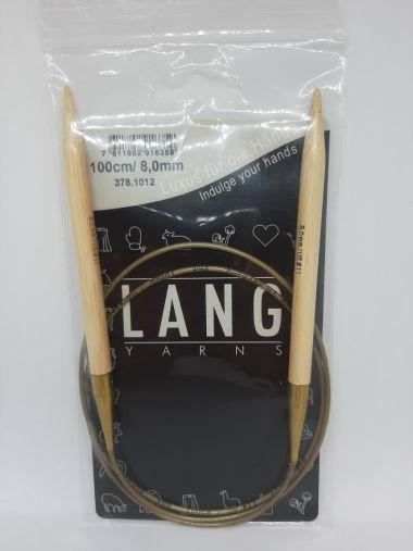 Aiguilles circulaires bambou Lang Yarns-8 mm