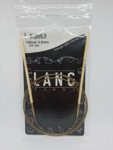 Aiguilles circulaires bambou Lang Yarns 120 cm-3.5 mm