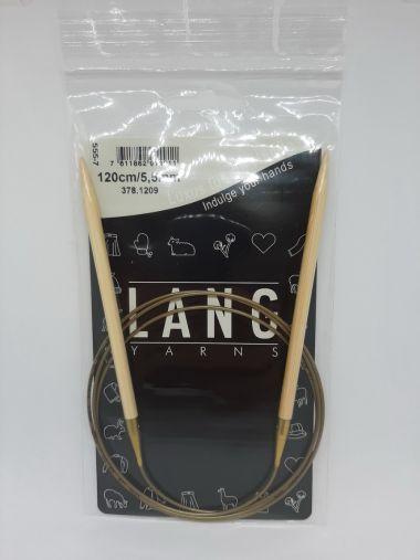 Aiguilles circulaires bambou Lang Yarns 120 cm-5.5 mm