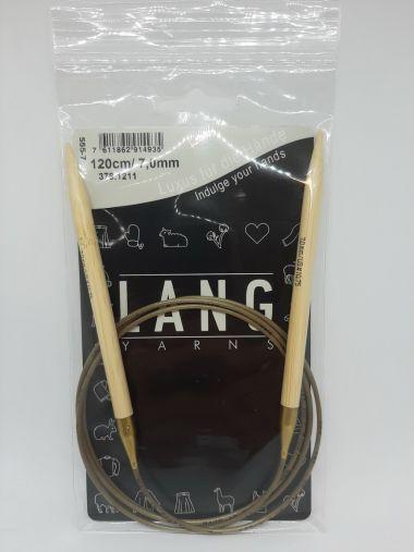 Aiguilles circulaires bambou Lang Yarns 120 cm-7 mm