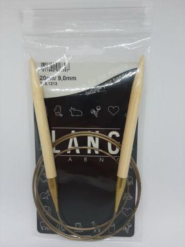 Aiguilles circulaires bambou Lang Yarns 120 cm-9 mm