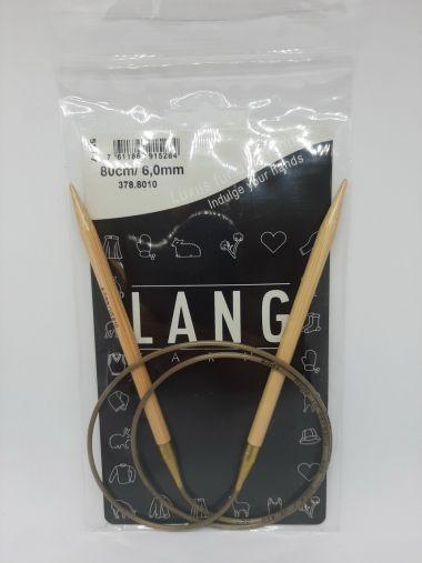 Aiguilles Circulaires Bambou Lang Yarns 80 cm-6 mm
