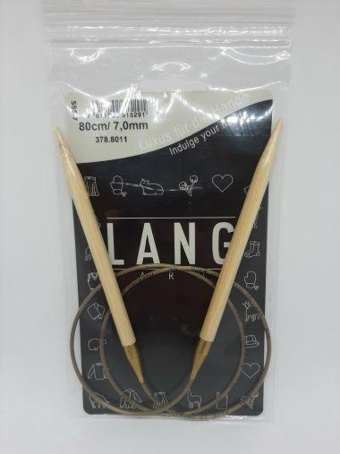 Aiguilles Circulaires Bambou Lang Yarns 80 cm-7 mm