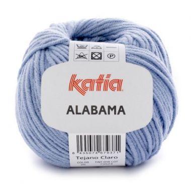 Laine Katia coton Alabama_Coloris- 26 bleu clair