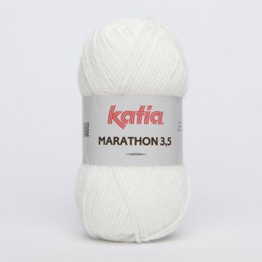 Laine Katia Marathon 3.5-Couleur- N° 1 blanc
