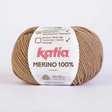 Laine Katia Mérino Cent %_Couleur- 10 canelle