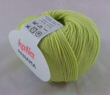 Laine Katia Coton Panama_Couleur - 15 vert anis