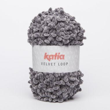 Laine Katia spéciale col Velvet Loop_Couleur- N° 104 gris souris
