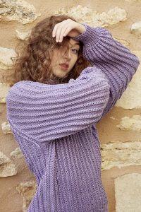 Kit tricot pull, coton sunshine Wooladdicts
