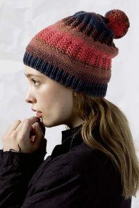 fiche tricot, bonnet, laine lang yarns mérino+color