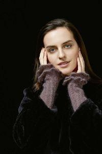 Fiche explicative, tricoter des manchettes en laine mohair fancy de lang yarns.
