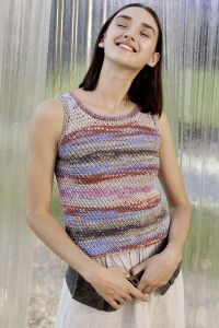 Modèle à tricoter, coton Lang Yarns Sol Dégradé