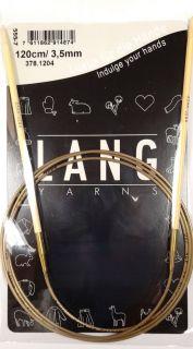 Aiguilles circulaires Lang Yarns en bambou, longueur 120 cm