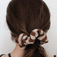 Modèle à tricoter, chouchou, fil lamé, Lang Yarns