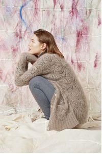 Modèle à tricoter, gilet N°62 du catalogue 261, laine Mohair Luxe