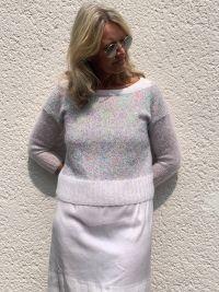Modèle pull à tricoter, laine Lang Yarns Mohair Luxe et Paillettes