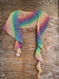 Kit tricot châle au point mousse, coton linello