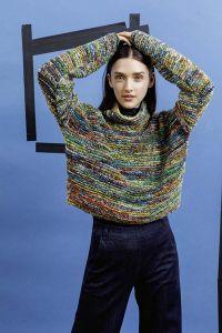 Modèle pull à tricoter, laine Soho de Lang Yarns, N°3 du Punto 22