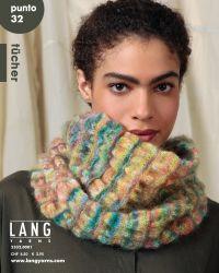 Catalogue Lang Yarns Punto N°32 - Cashmere Dreams et Kid Color Modèle 1 Kid color 1079.0006 = 3 pelotes