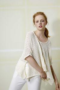 modèle pull tunique à tricoter, coton Lang Yarns Marlène