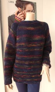 Pull Lang Yarns N°9 du catalogue N°227 laine Mosso